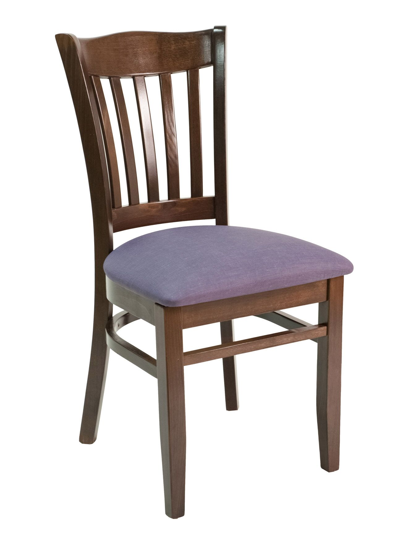 CON Series Side Chair Color: Dark Mahogany, Upholstery Color: Ebony