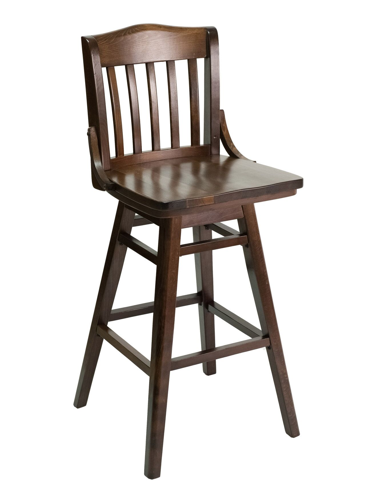 FLS Series Side Chair Color: American Beauty Red, Base Color: Walnut