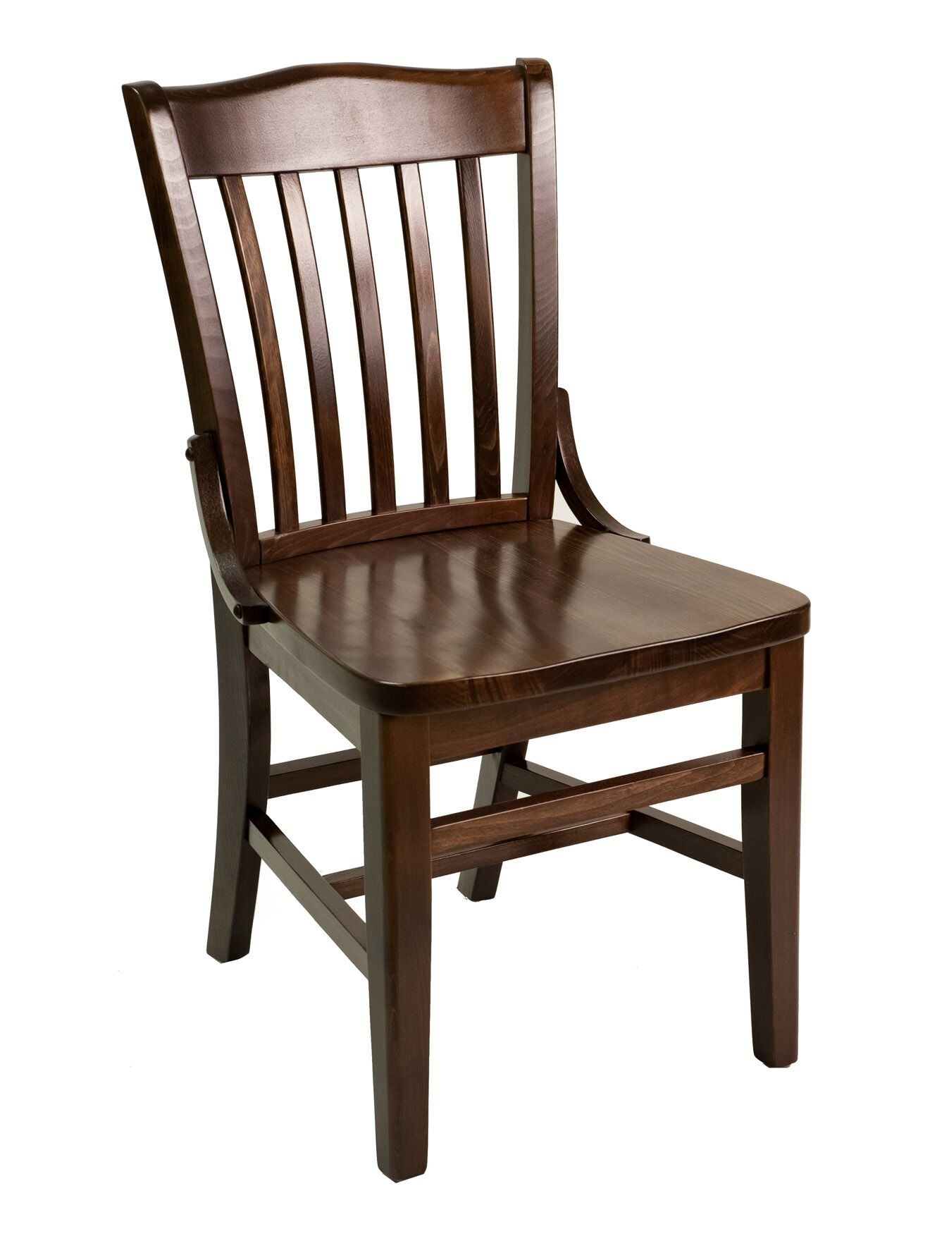 FLS Series Side Chair Base Color: Mahogany, Upholstery Color: Ebony
