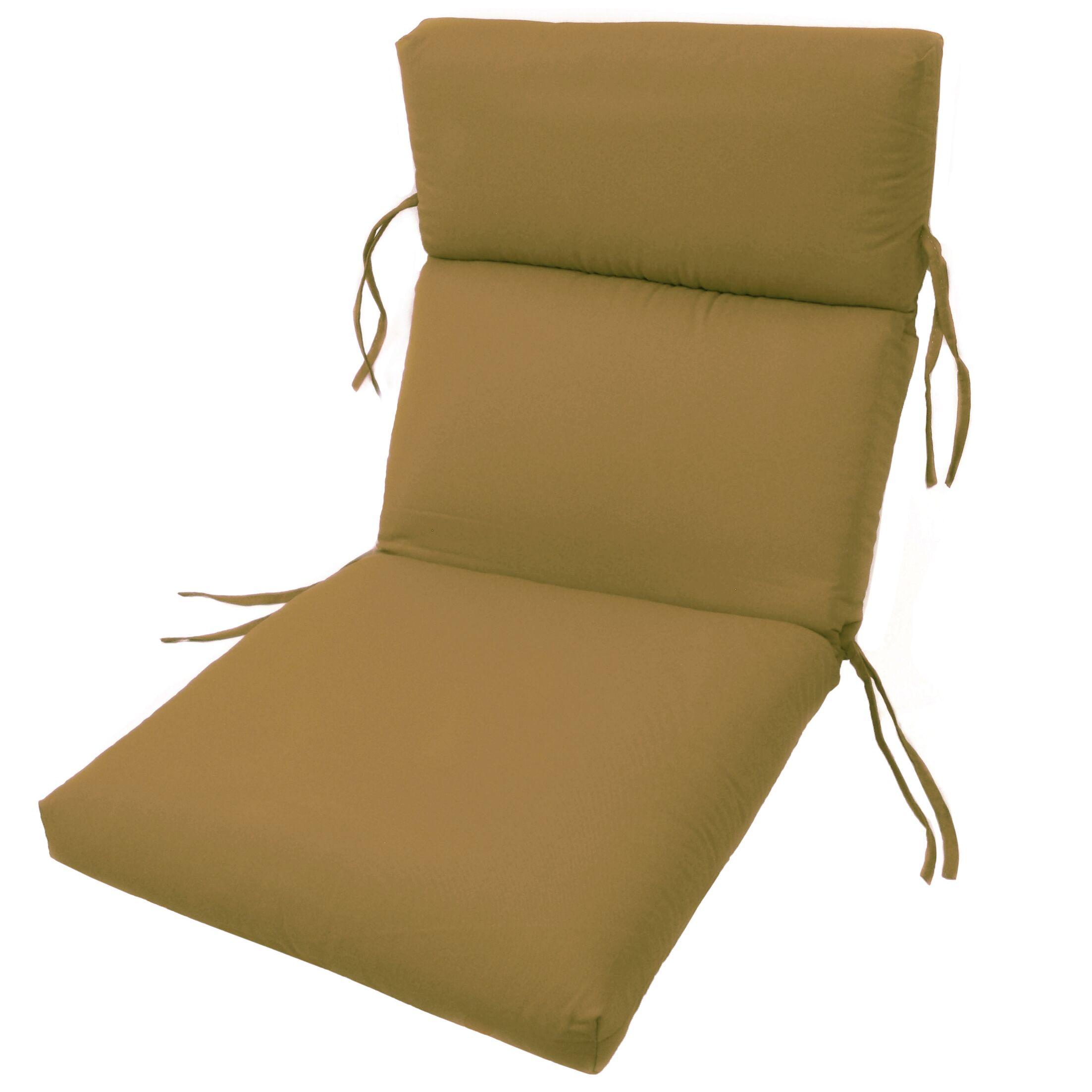 Channeled Indoor/Outdoor Sunbrella Lounge Cushion Fabric: Brass