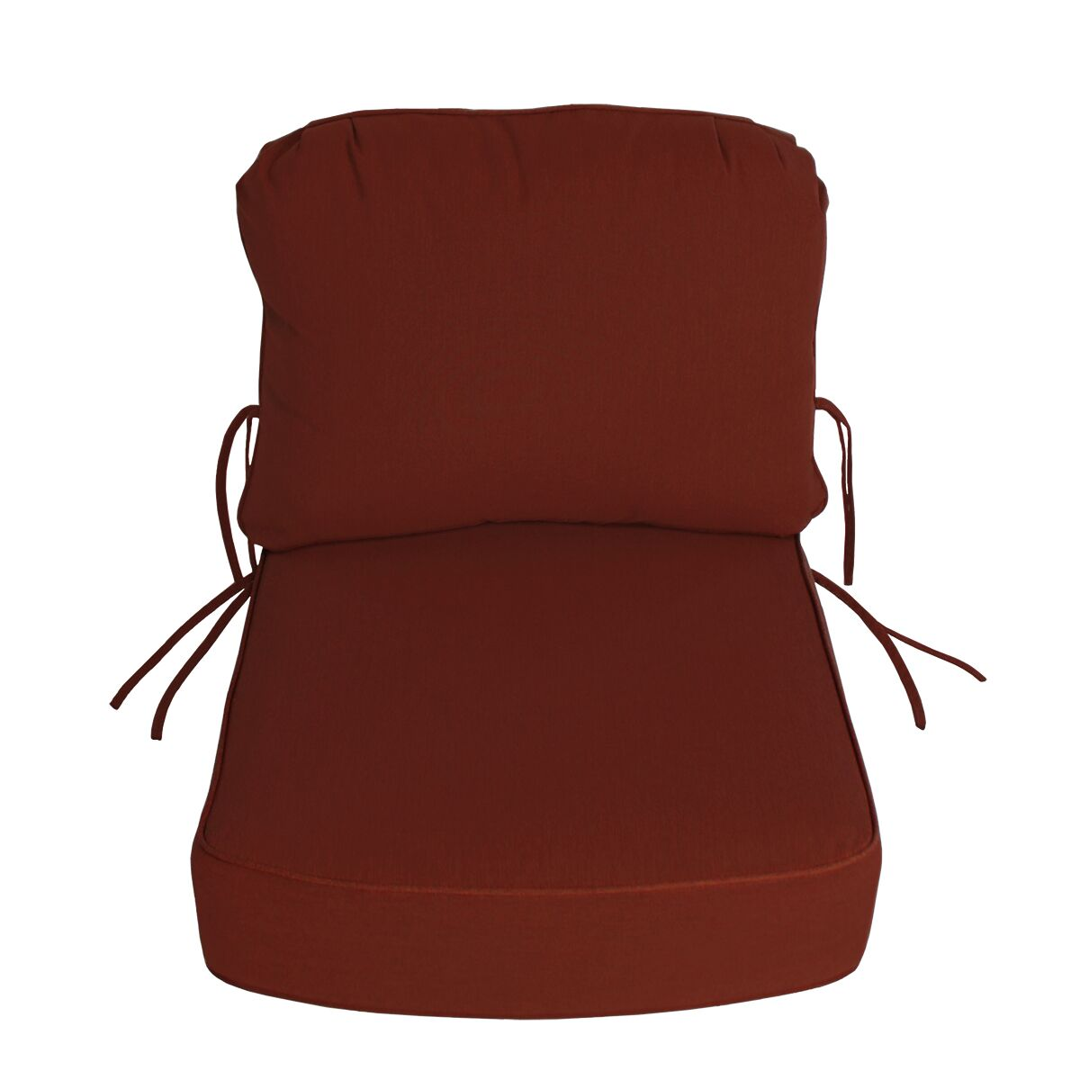 Indoor/Outdoor Sunbrella Deep Setting Chair Cushion Fabric: Terracotta