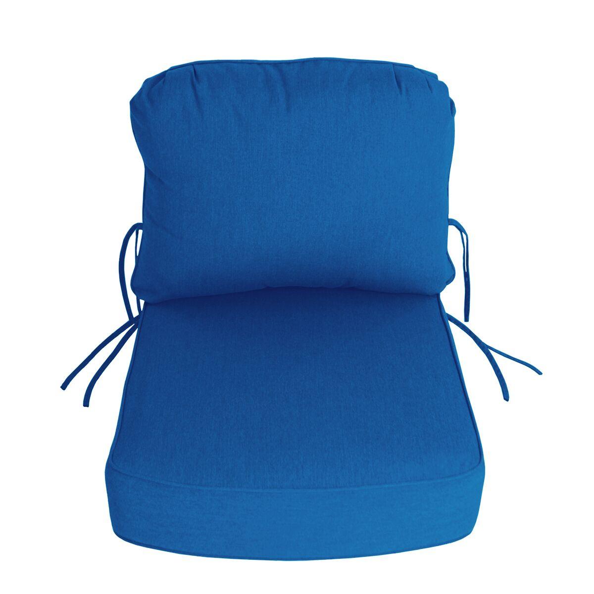 Indoor/Outdoor Sunbrella Deep Setting Chair Cushion Fabric: Pacific Blue