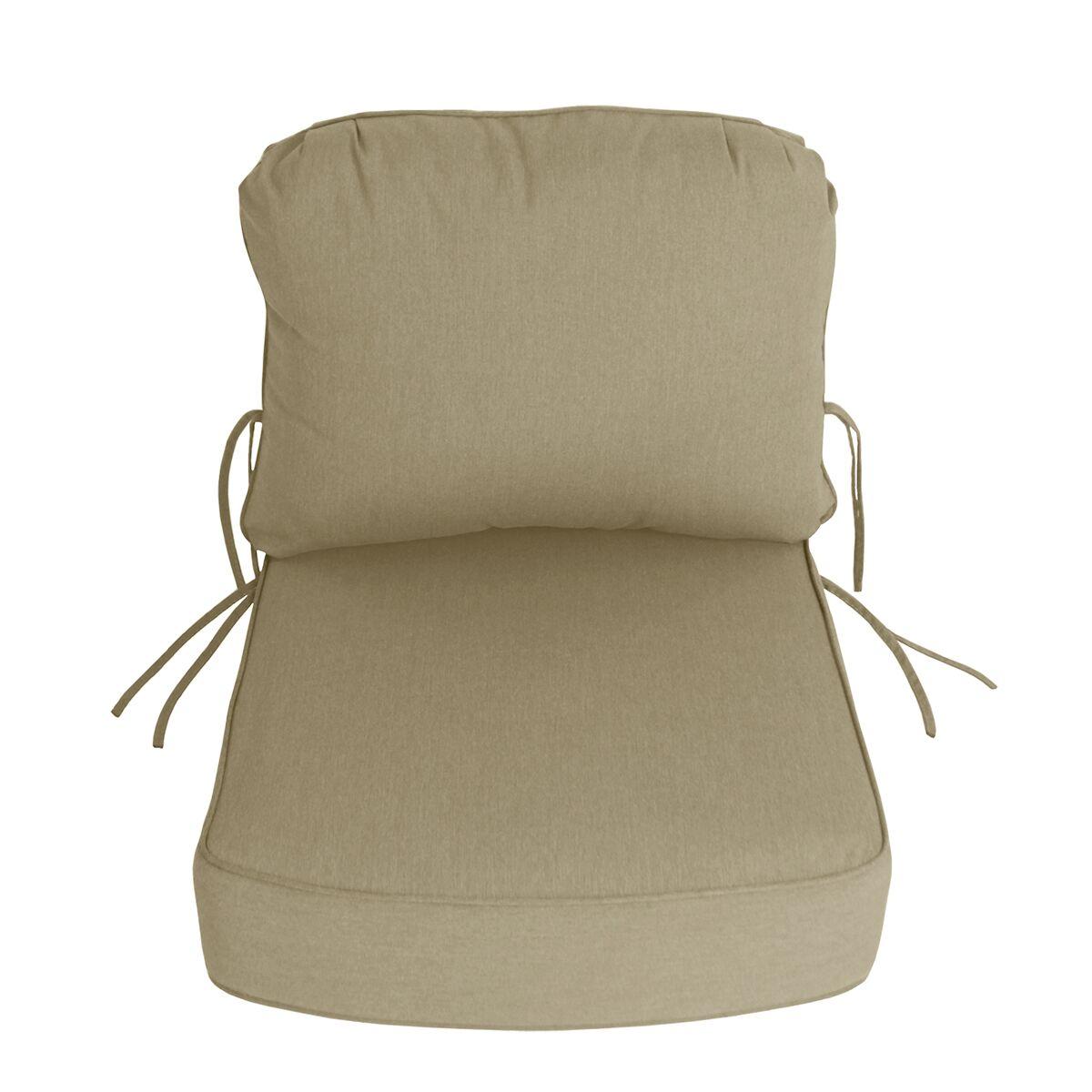 Indoor/Outdoor Sunbrella Deep Setting Chair Cushion Fabric: Antique Beige