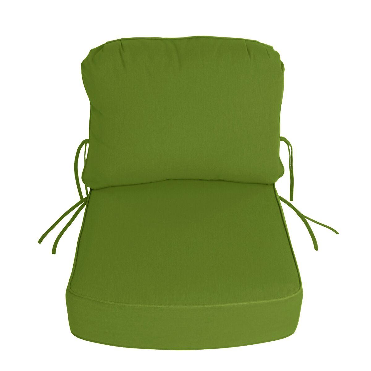 Indoor/Outdoor Sunbrella Deep Setting Chair Cushion Fabric: Macaw