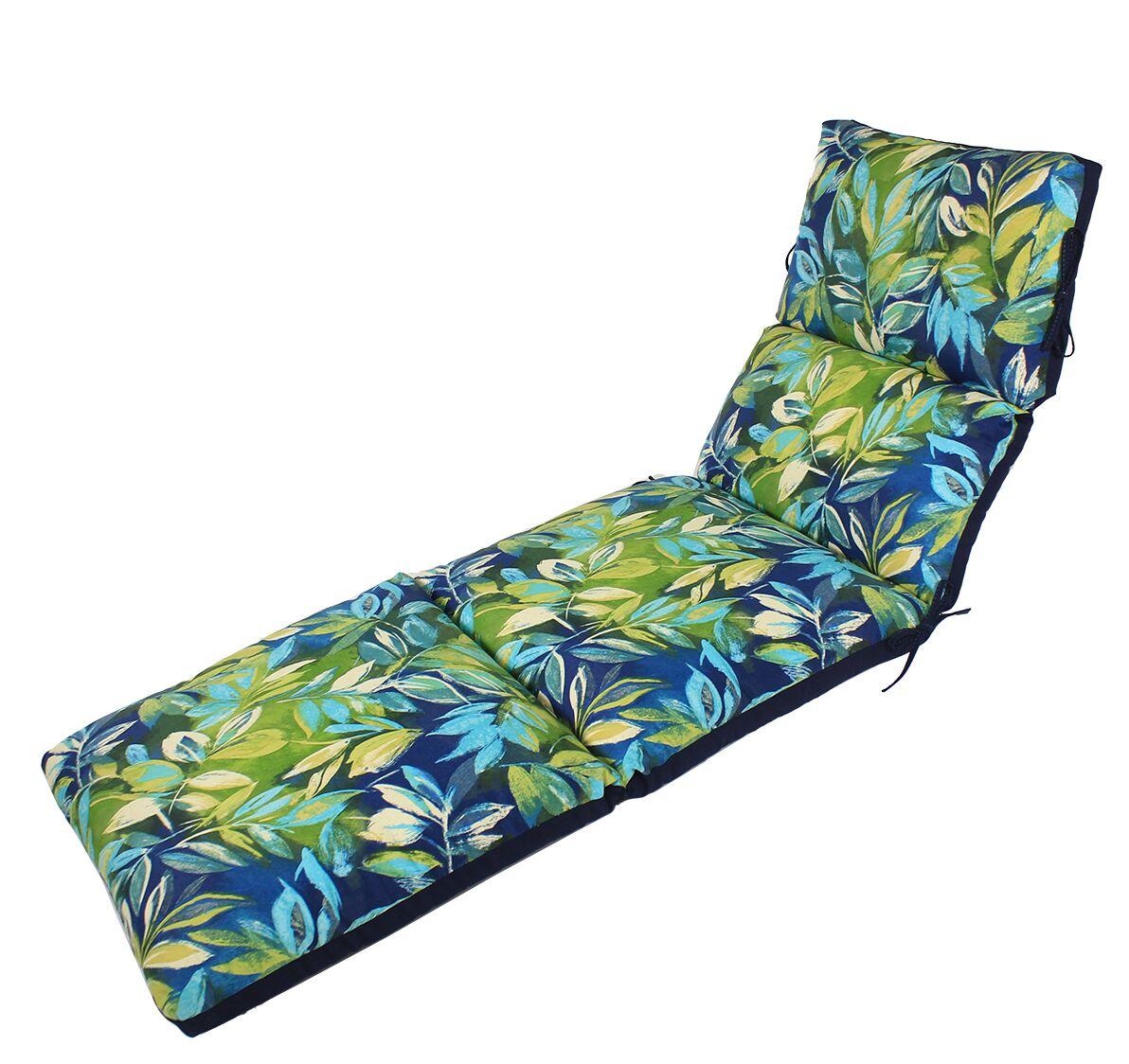 Channeled Reversible Indoor/Outdoor Chaise Lounge Cushion