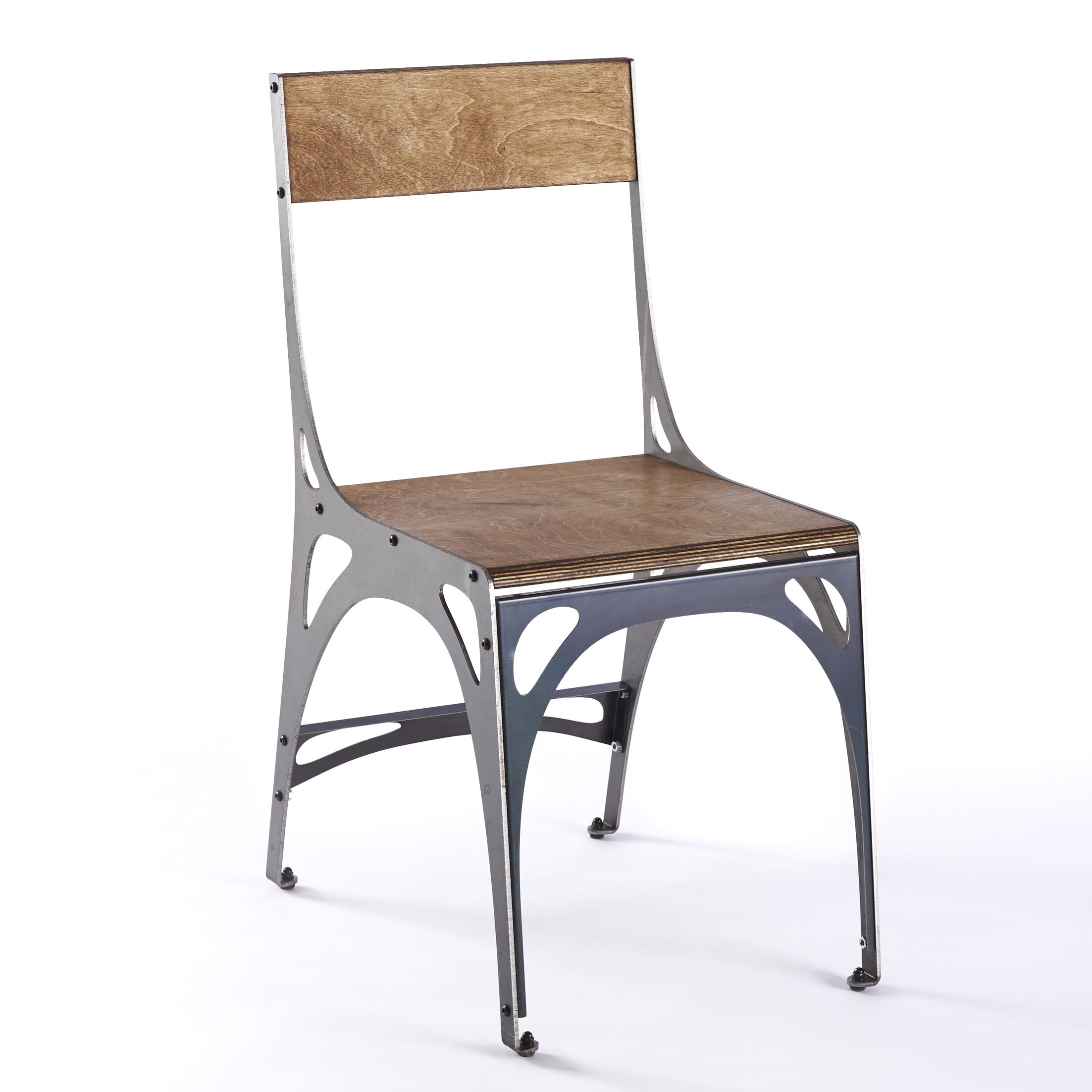 Mark 1 Side Chair Finish: Raw Steel