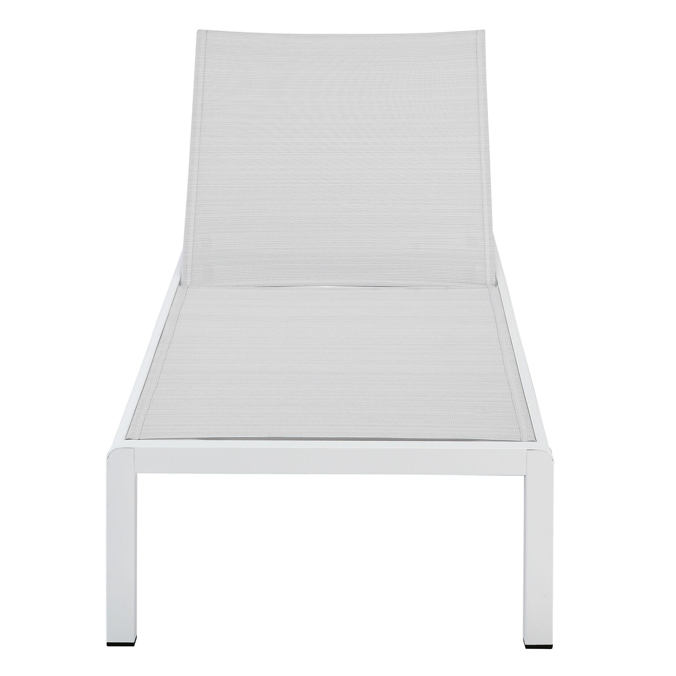 Chaise Lounge Fabric/Finish: Light Gray/White