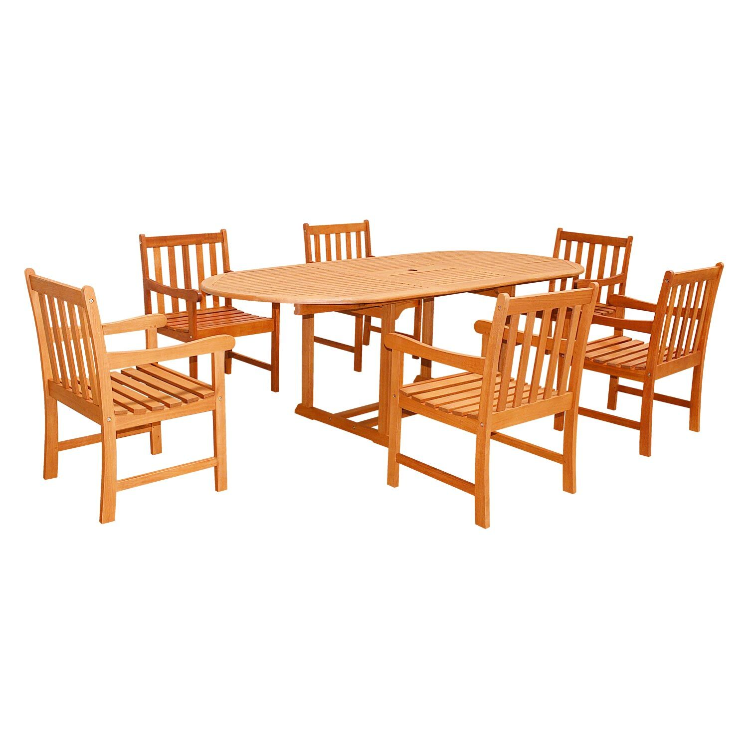 Five Piece Outdoor Dining Set with Oval Table