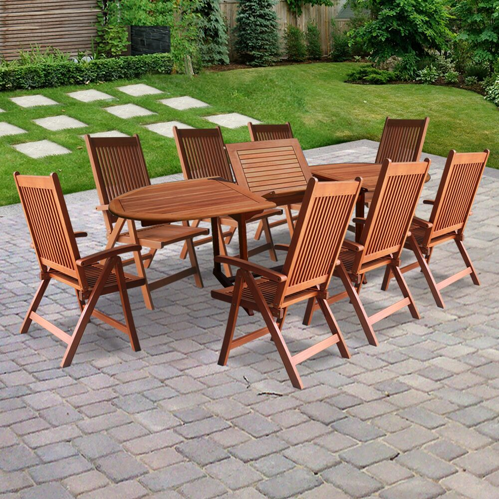 Vista 9 Piece Dining Set
