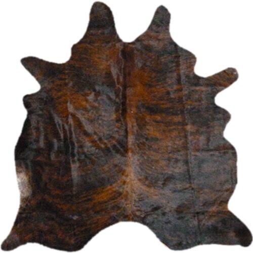 Morenci Hand Woven Cowhide Dark Brindle Area Rug