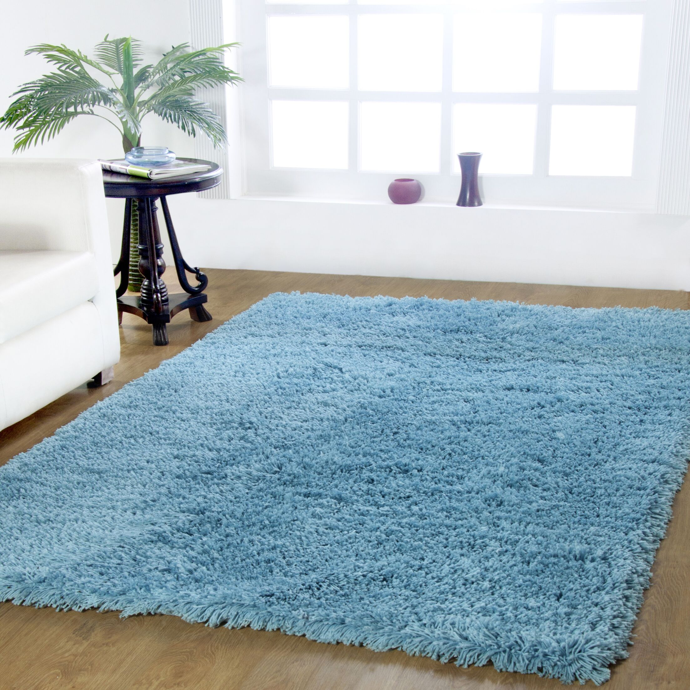 Affinity Hand-woven Blue Area Rug Rug Size: Rectangle 4' x 6'