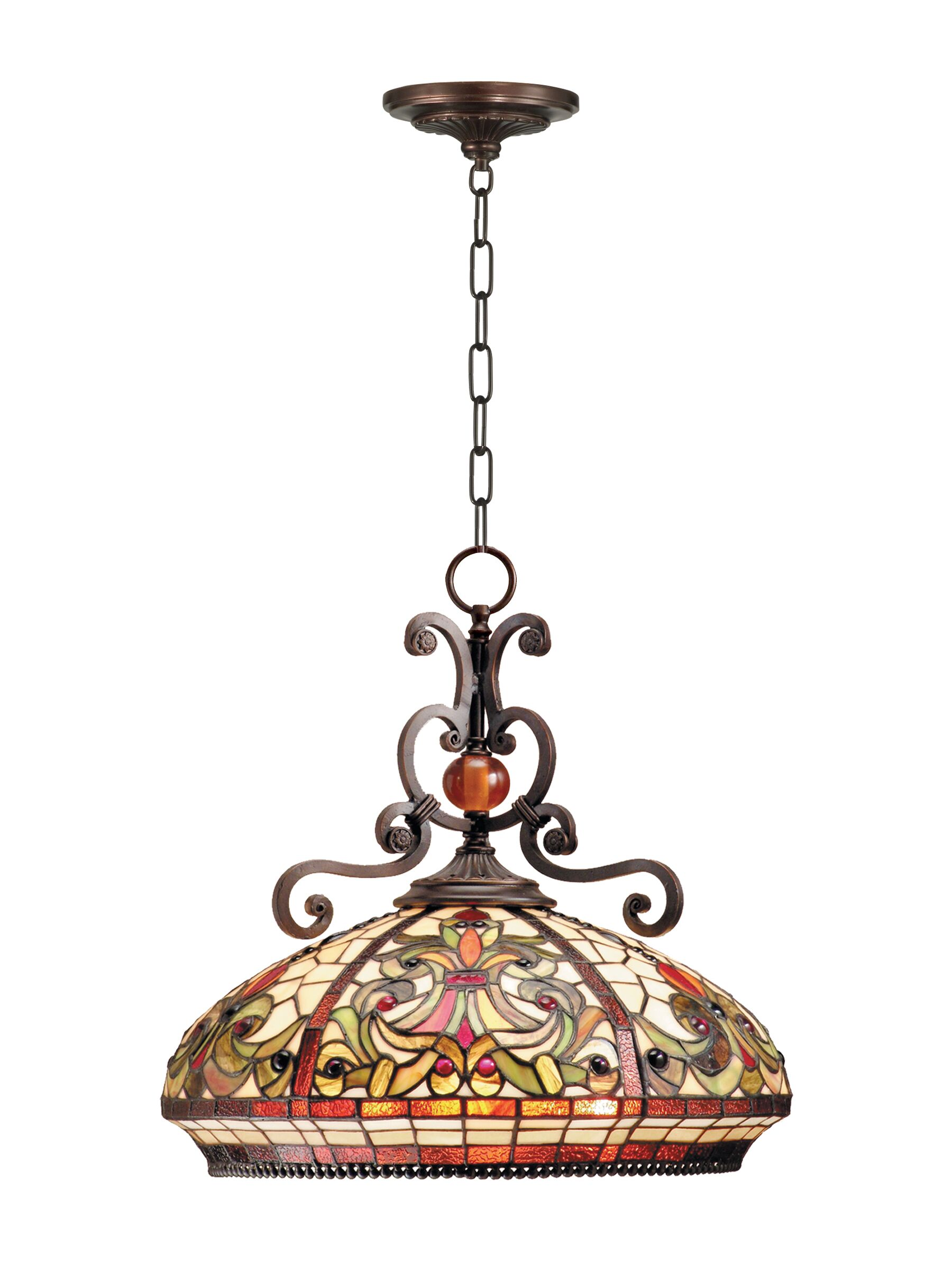 Nadeau 3-Light Bowl Pendant