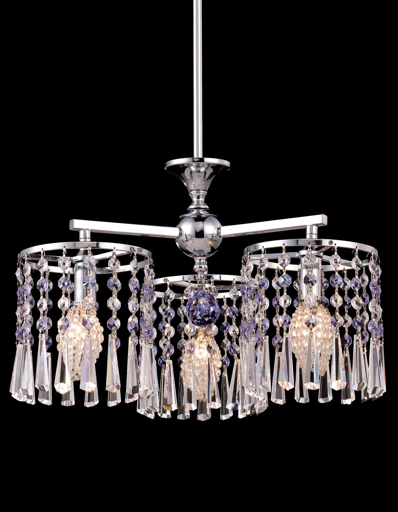Dowdy 3-Light Crystal Chandelier