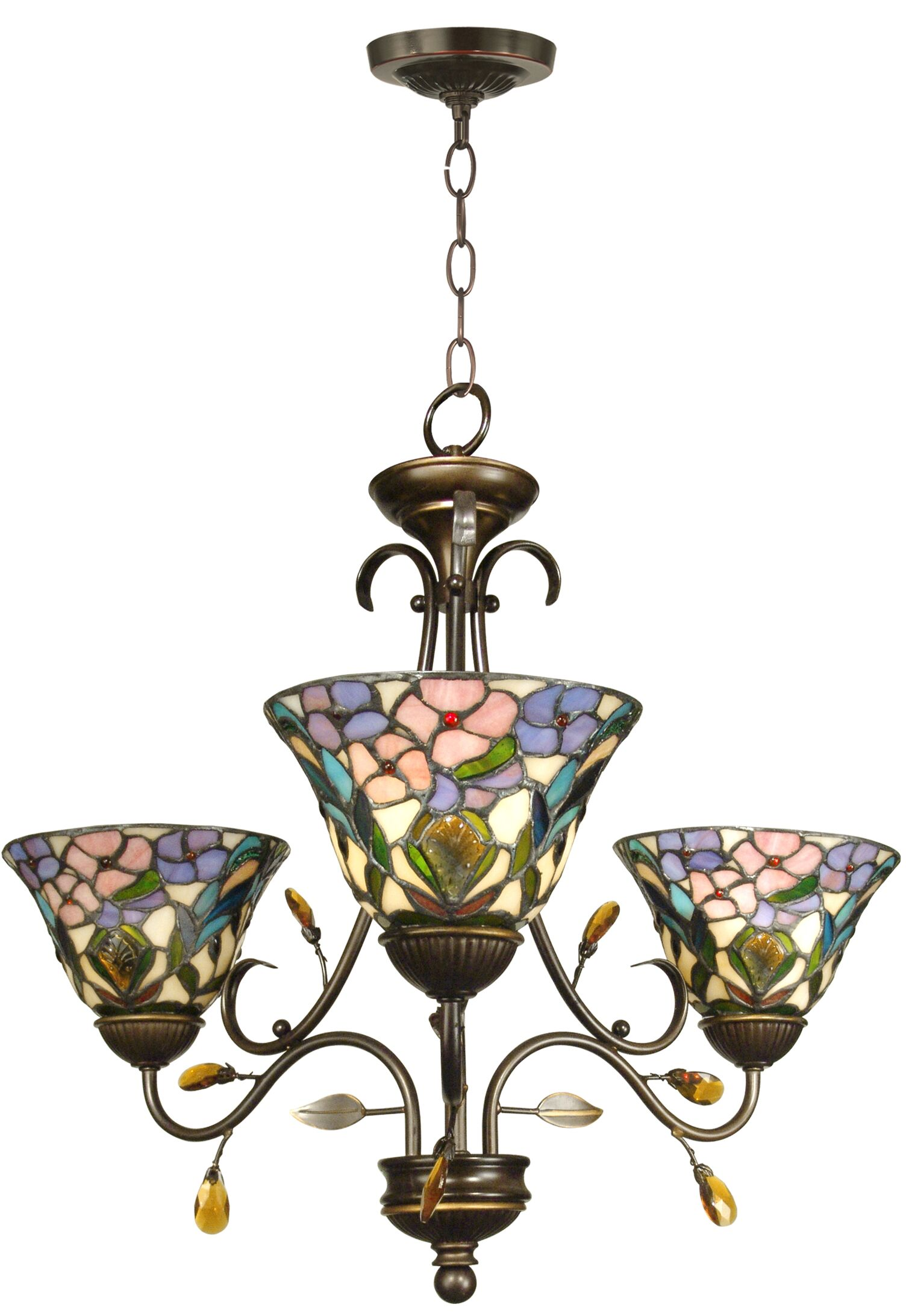 Purvis 3-Light Shaded Chandelier