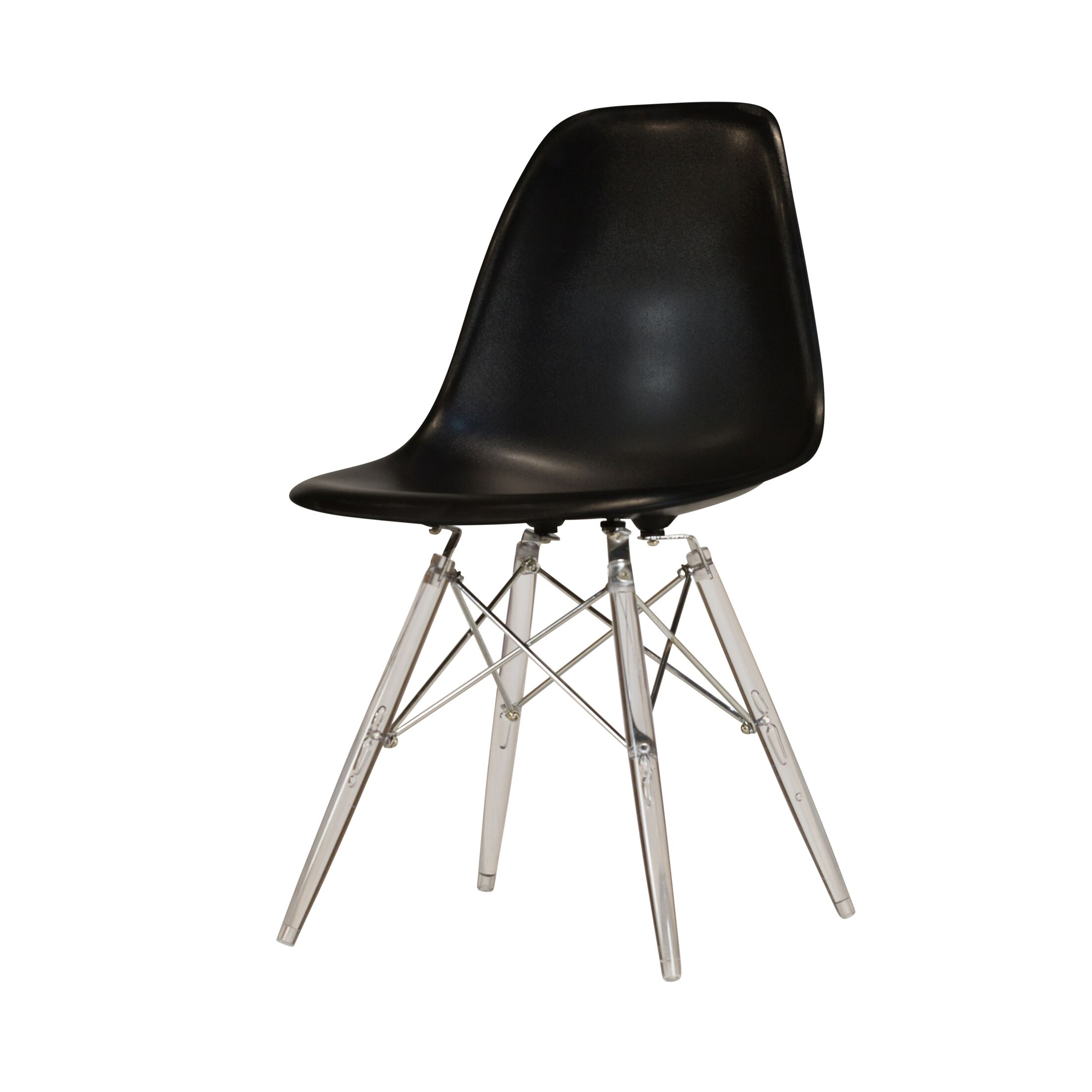 Khang Side Chair Color: Black/Clear