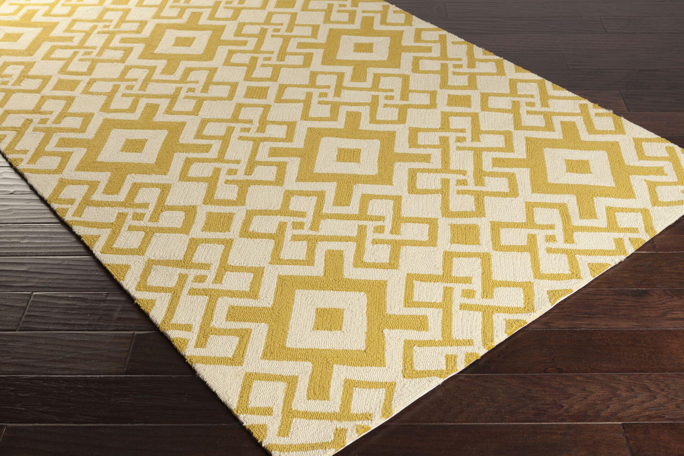 Aura Butter/Ivory Indoor/Outdoor Area Rug Rug Size: Rectangle 3'3