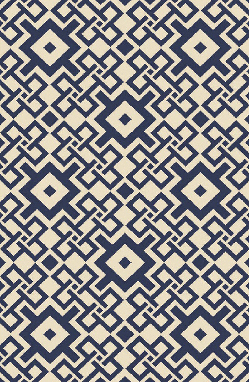 Aura Beige/Cobalt Indoor/Outdoor Area Rug Rug Size: Rectangle 3'3