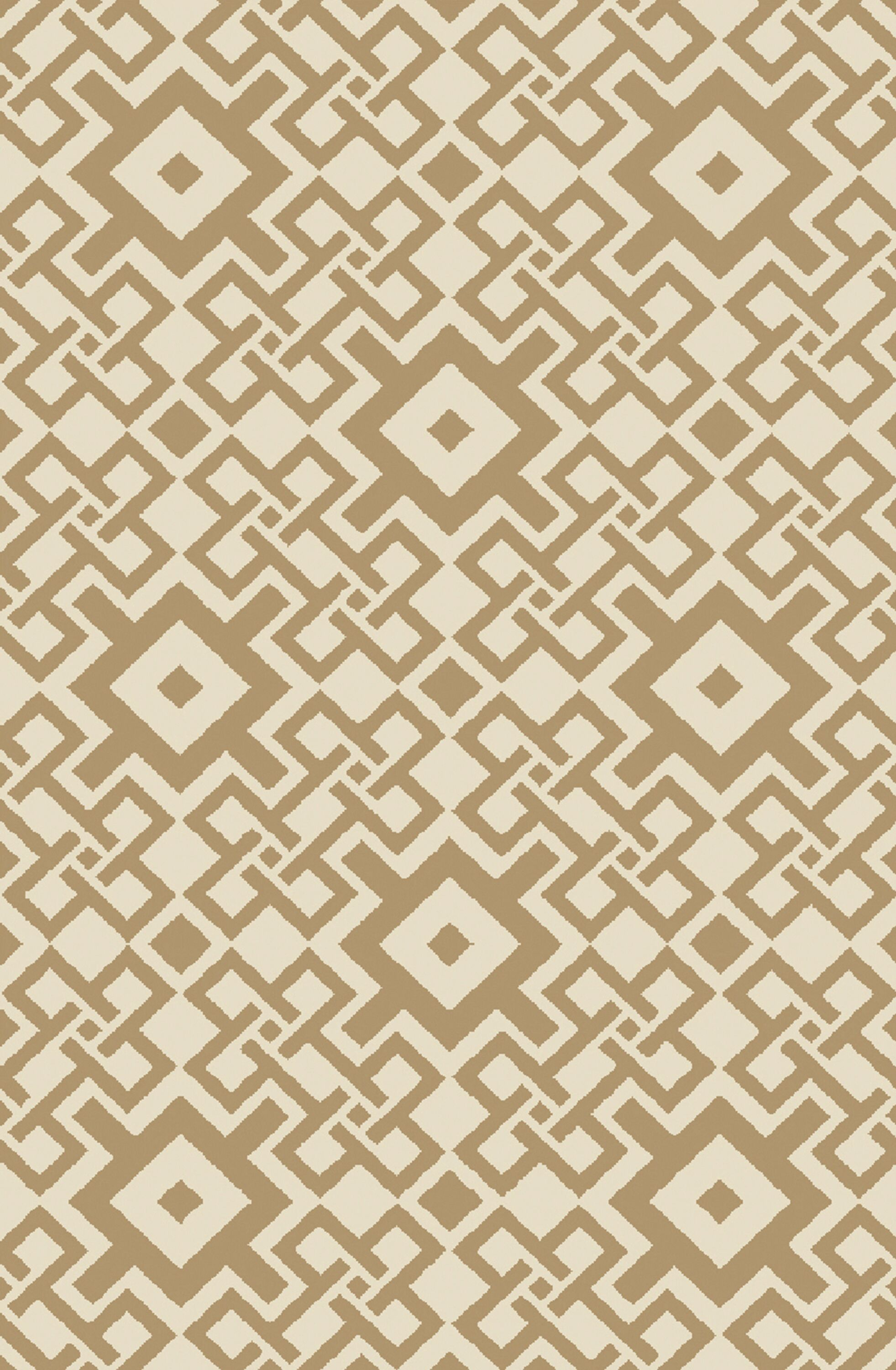 Aura Beige/Mocha Indoor/Outdoor Area Rug Rug Size: Rectangle 5' x 7'6