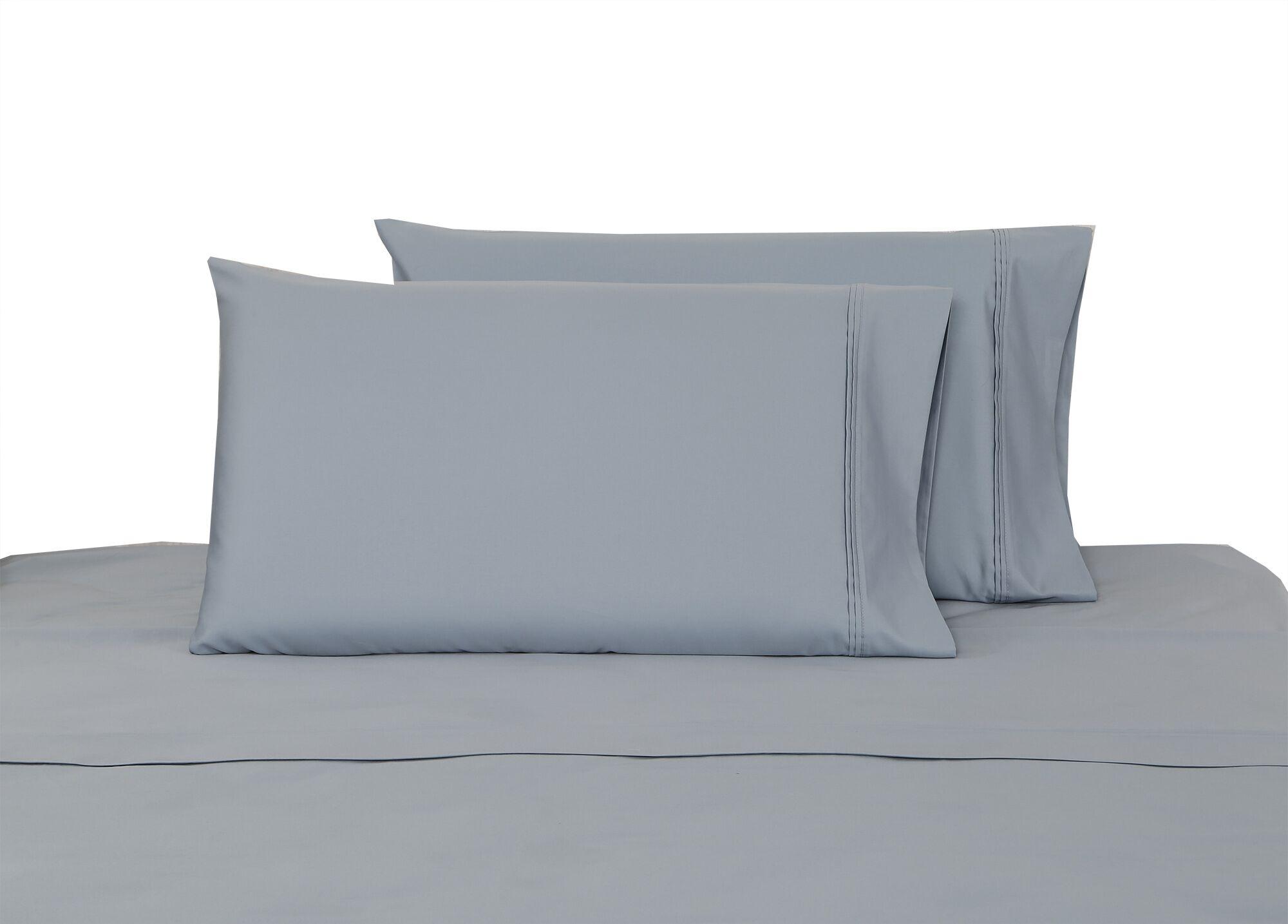 700 Thread Count 100% Cotton Sheet Set Color: Dusty Blue, Size: Queen