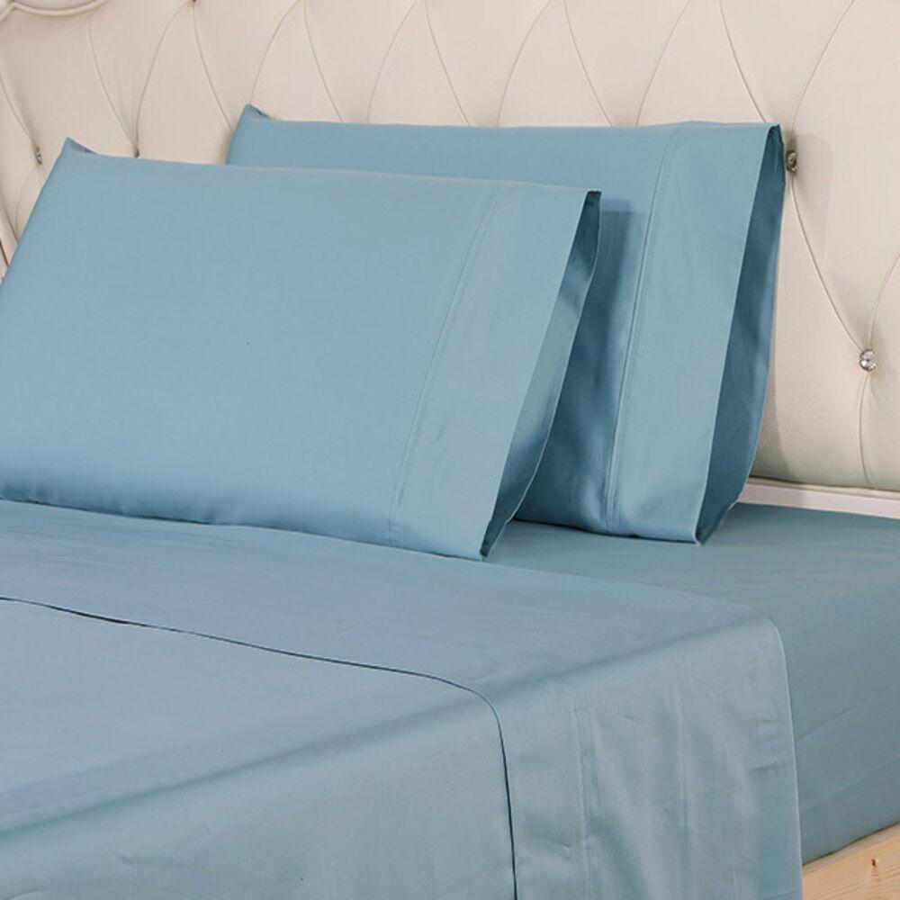 Hipolito 620 Thread Count 100% Cotton Sheet Set Size: King, Color: Blue
