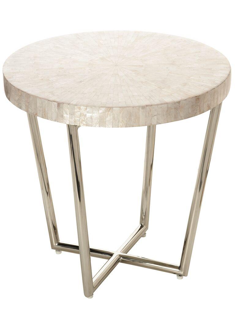Capiz Seashell Mosaic End Table