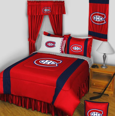 NHL Bed Skirt Size: Queen, NHL Team: Montreal Canadiens
