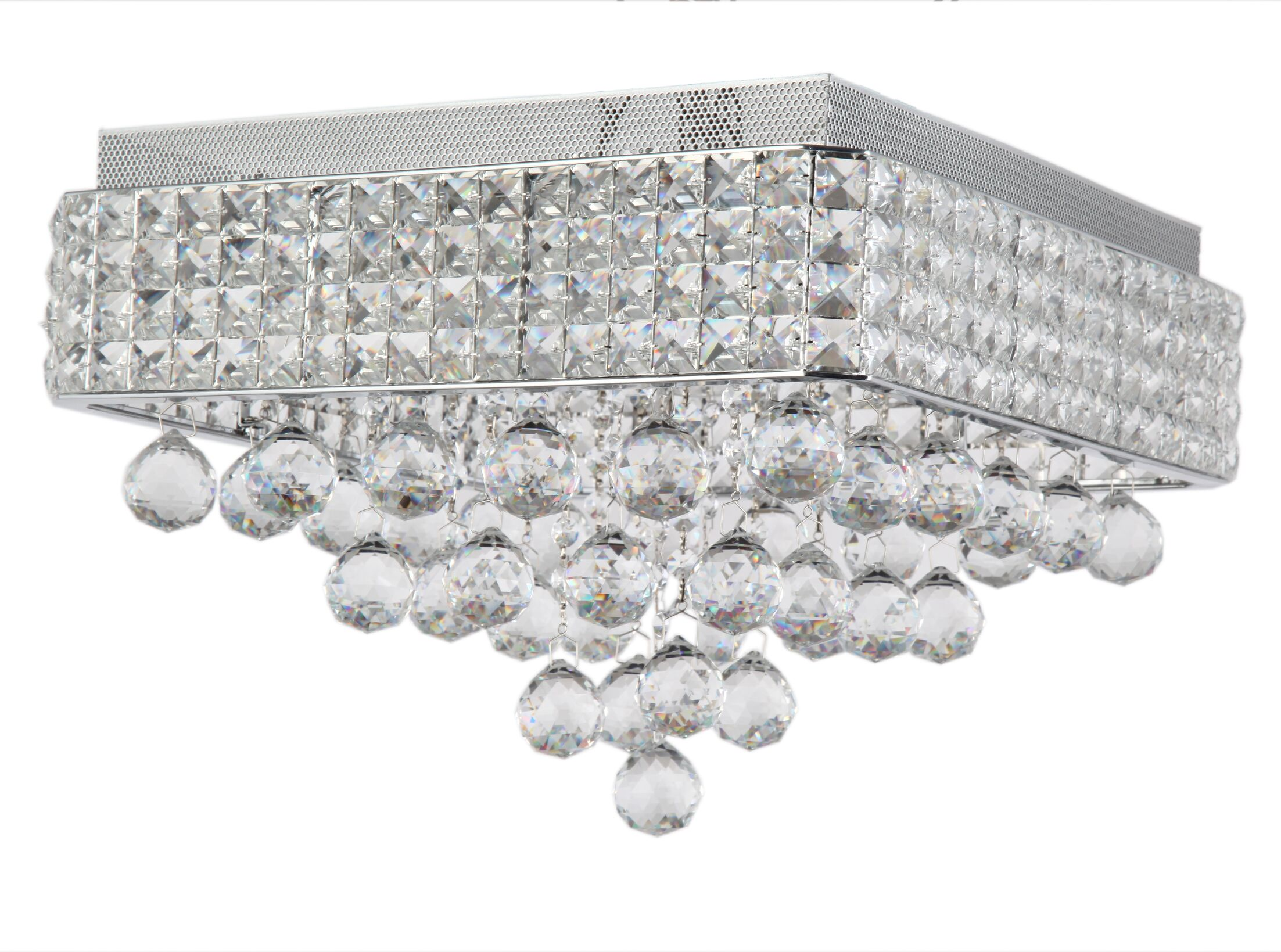 Ahlstrom 6-Light Crystal Shade Flush Mount