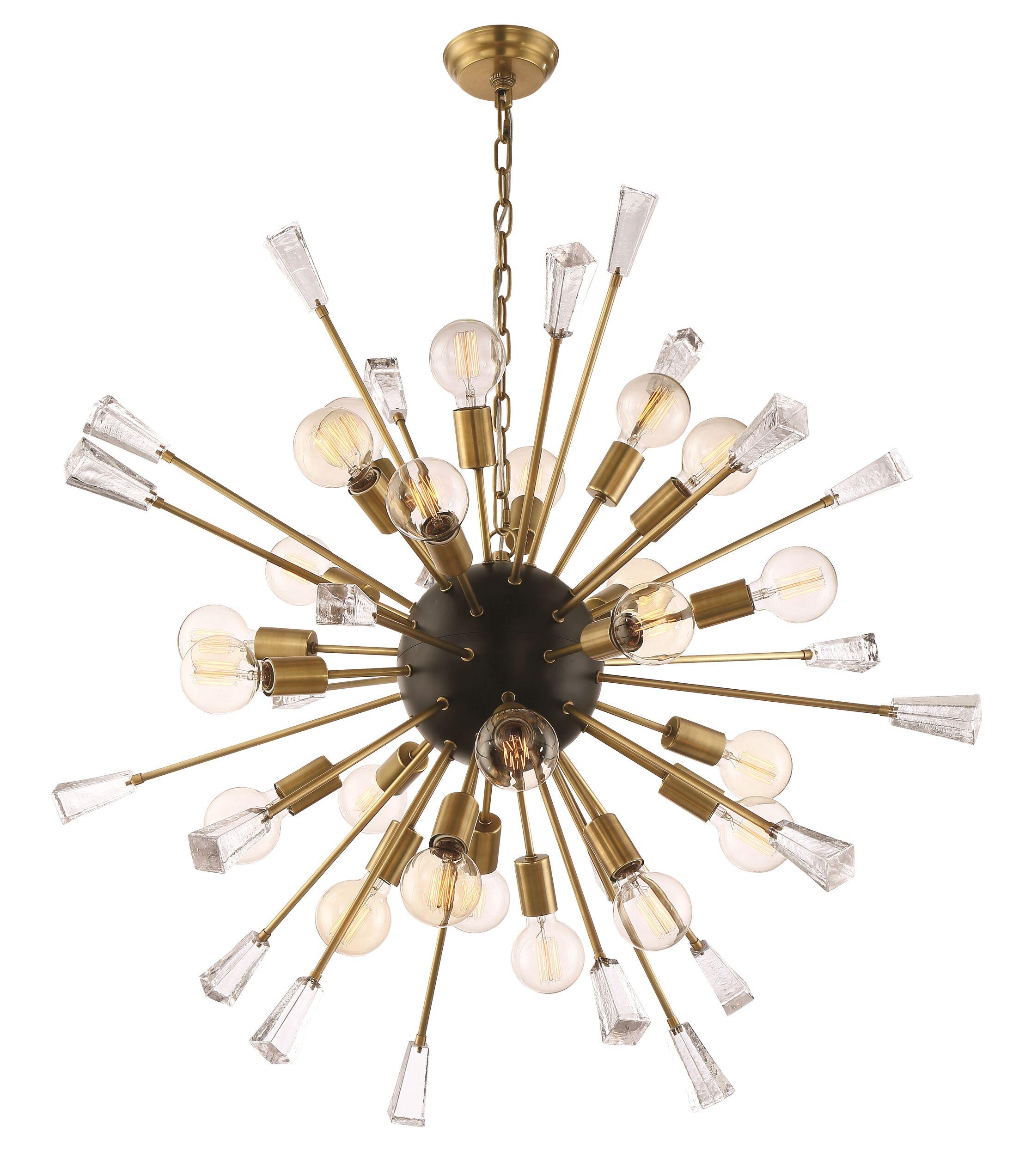 Axford 24-Light Sputnik Chandelier Finish: Aged Brass/Matte Black