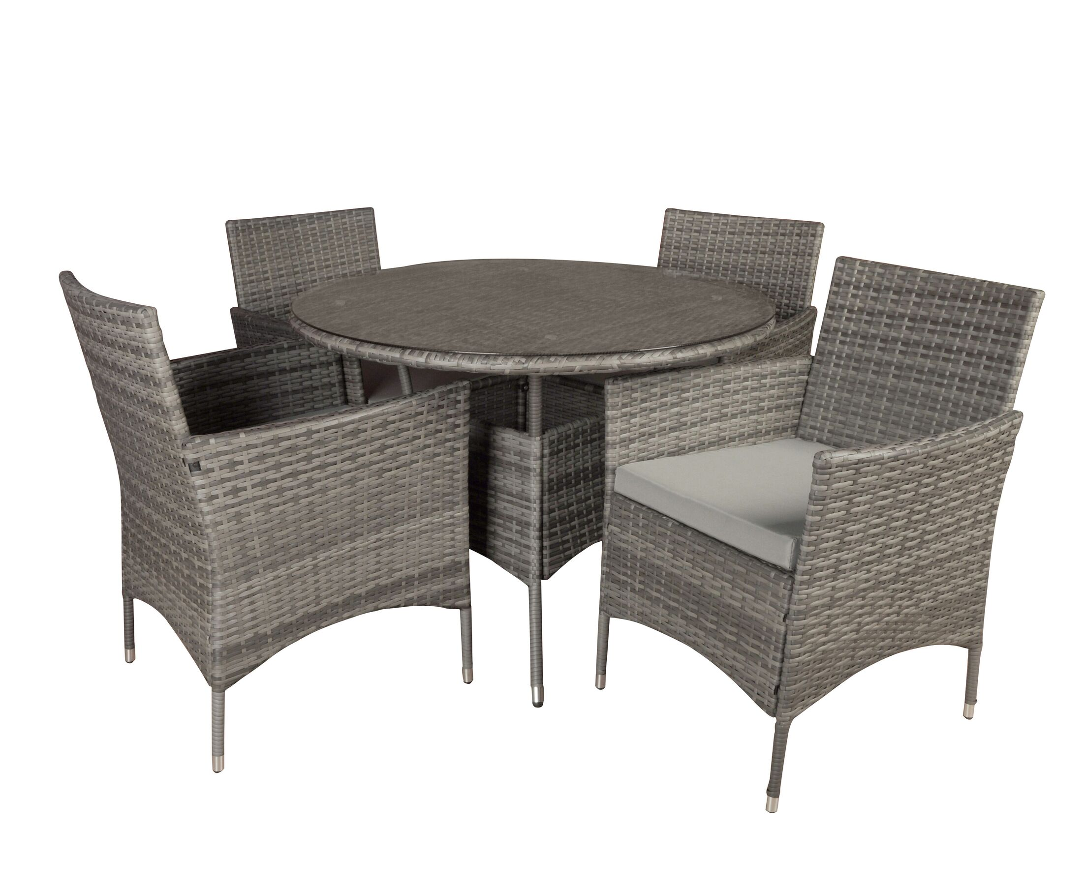 Brannigan 5 Piece Dining Set Color: Gray