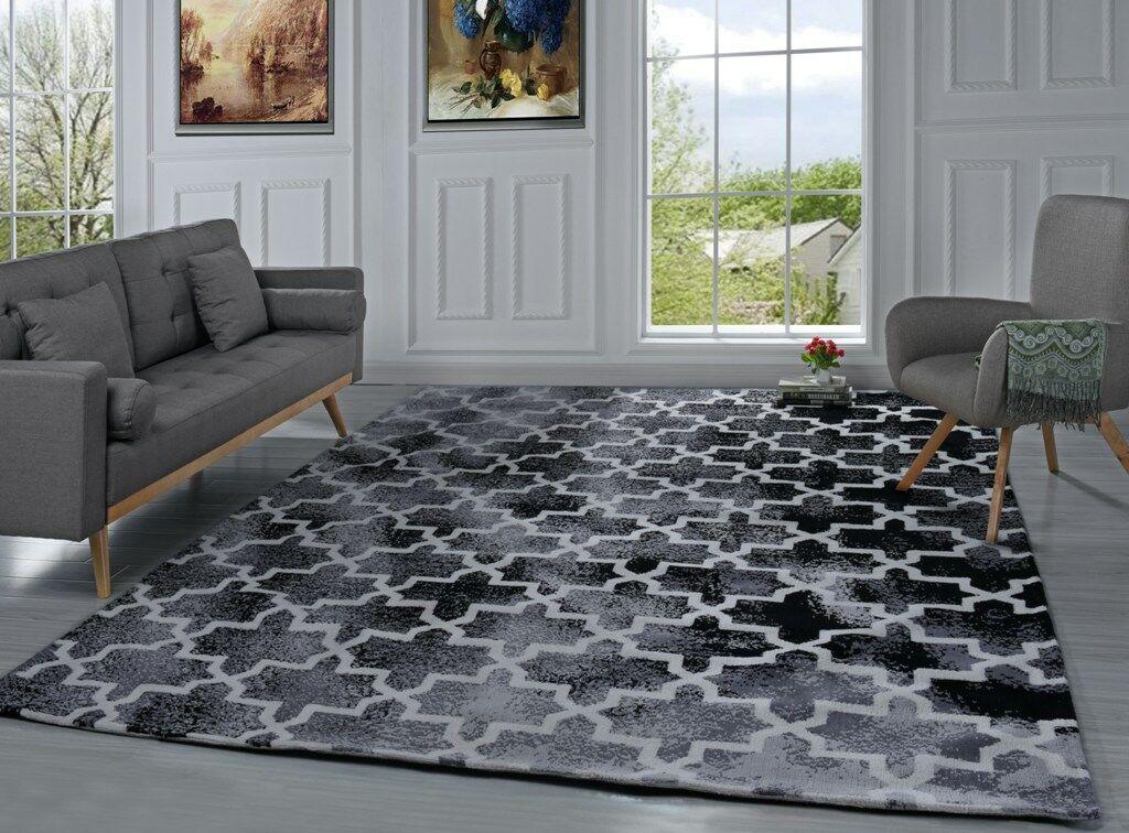 Riddell Moroccan Trellis Black Area Rug Rug Size: 8' x 10'