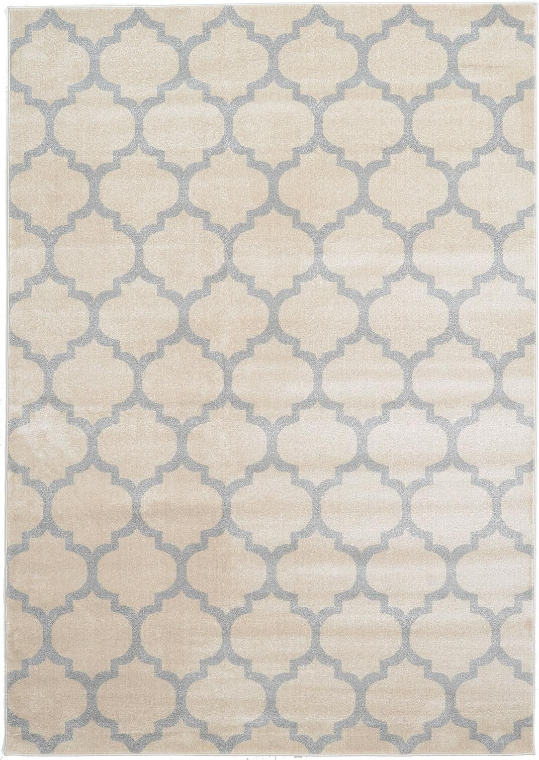 Brooklyn Ivory/Gray Area Rug Rug Size: 7'10