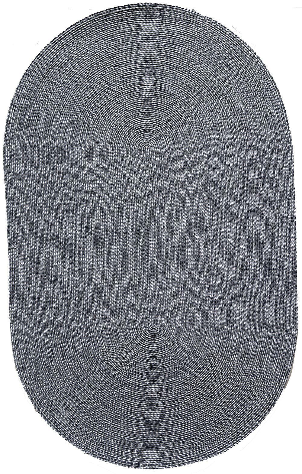 Colony Blue Area Rug Rug Size: Oval 4' x 6'