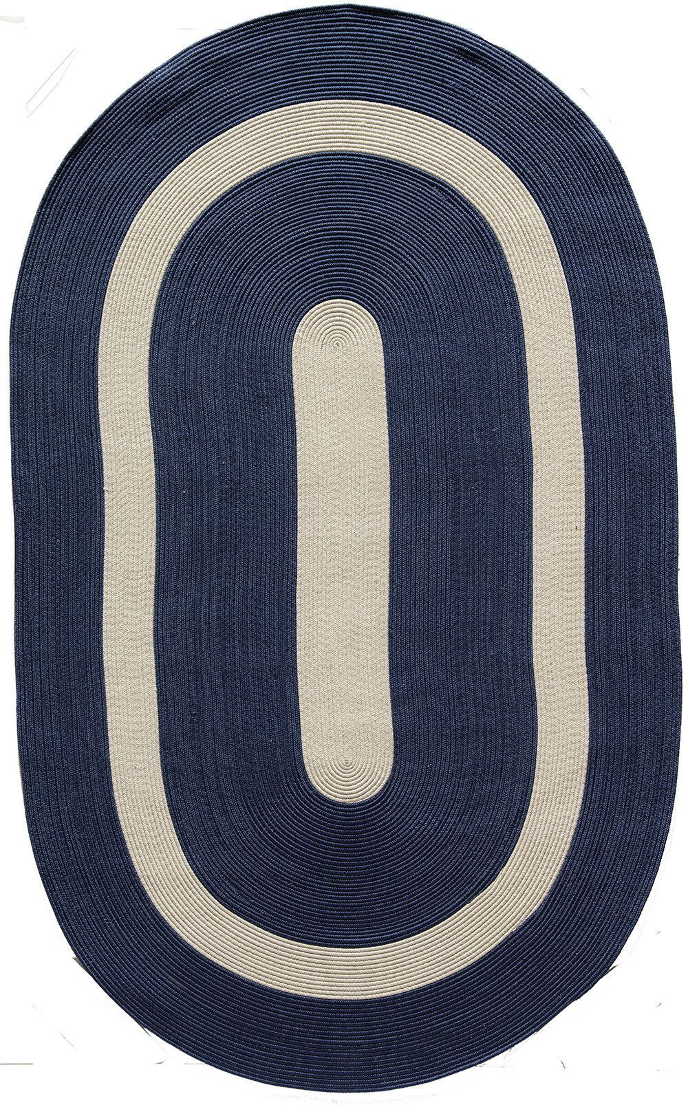 Plymouth Navy Area Rug Rug Size: Oval 4' x 6'