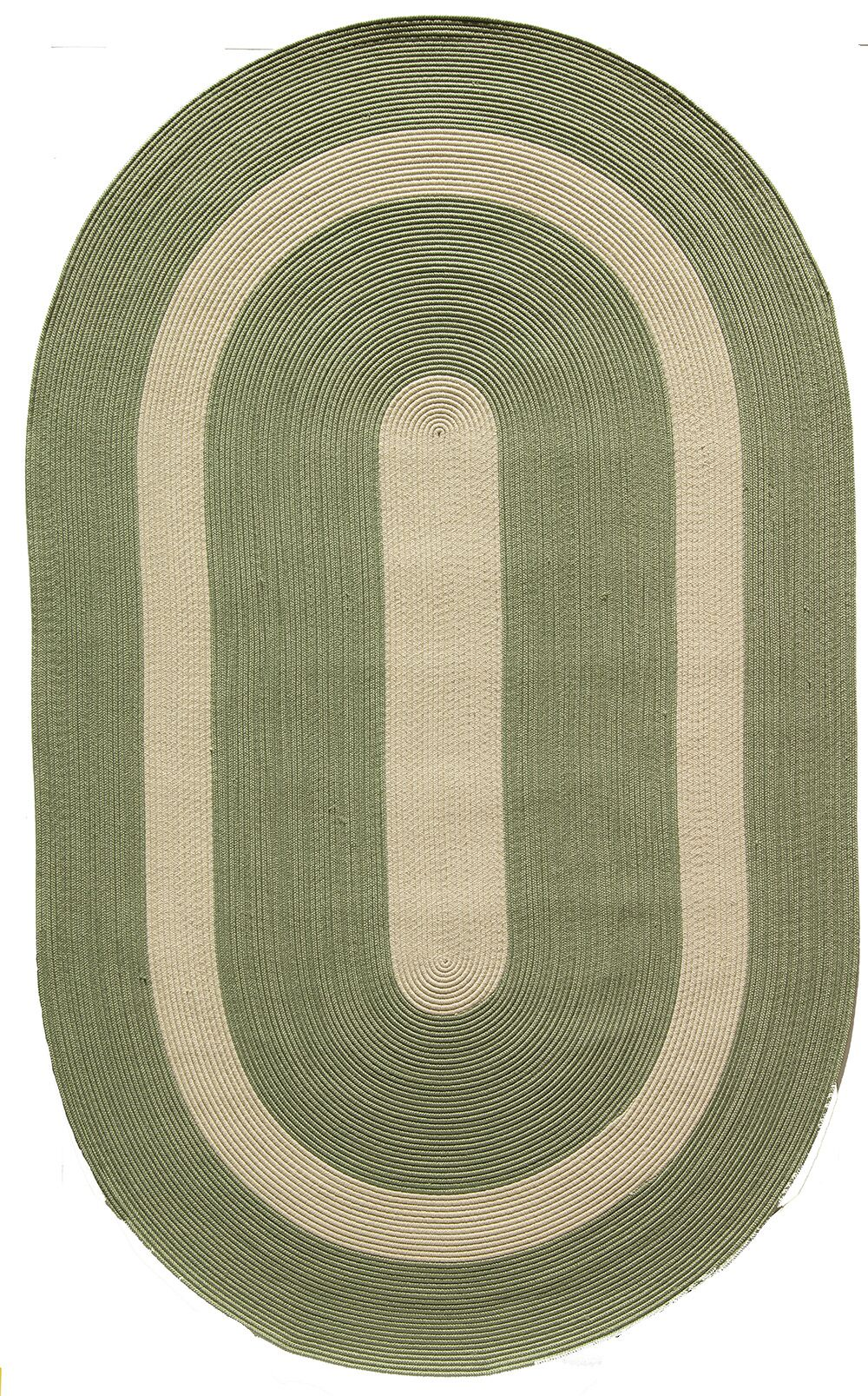 Plymouth Light Green Area Rug Rug Size: Oval 5' x 8'
