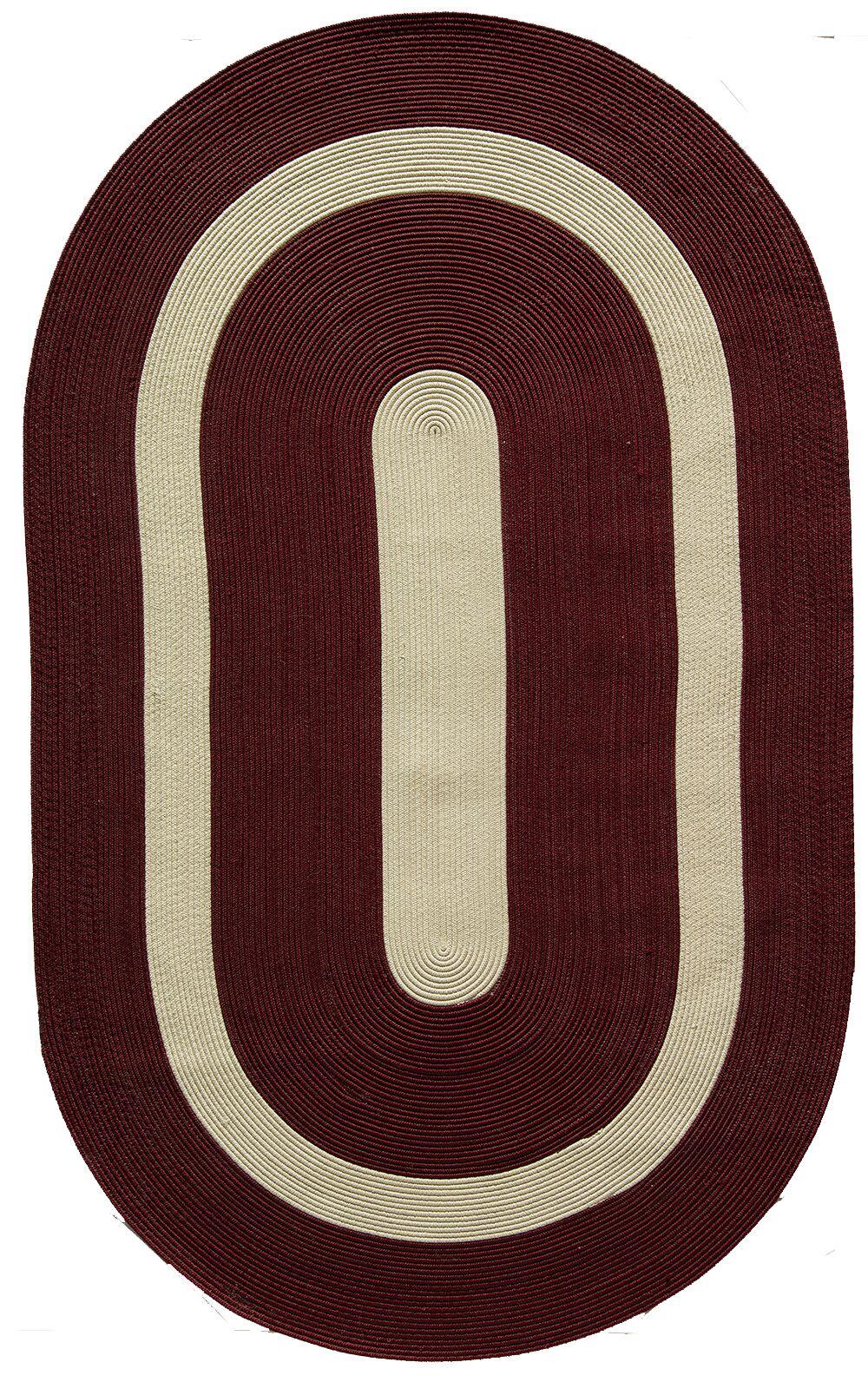 Plymouth Burgundy Area Rug Rug Size: Oval 8' x 11'