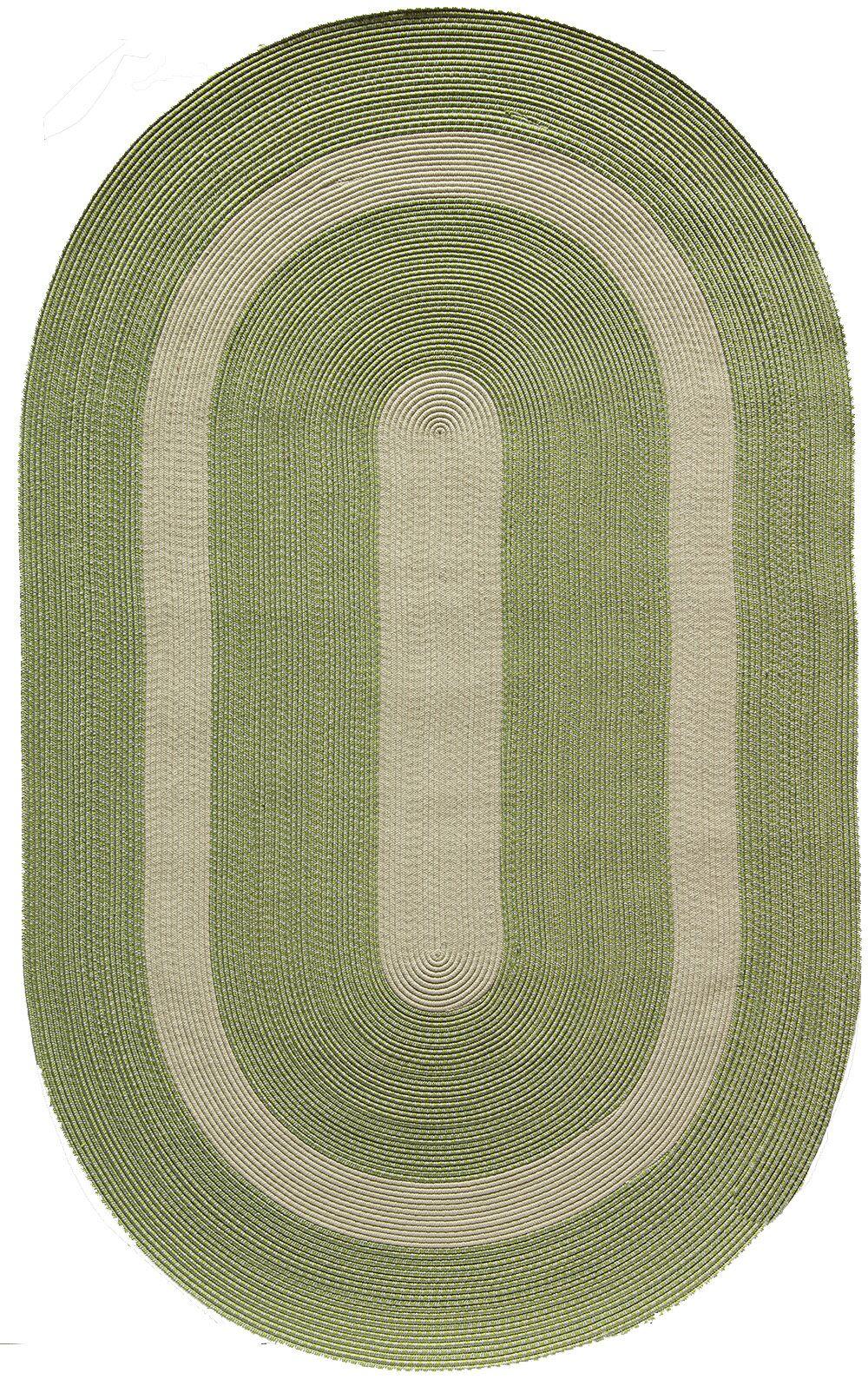 Heritage Mint GreenArea Rug  Rug Size: Oval 5' x 8'