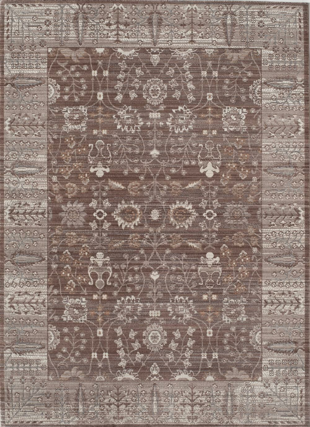 Asteria Brown/Taupe Area Rug Rug Size: 8' x 10'