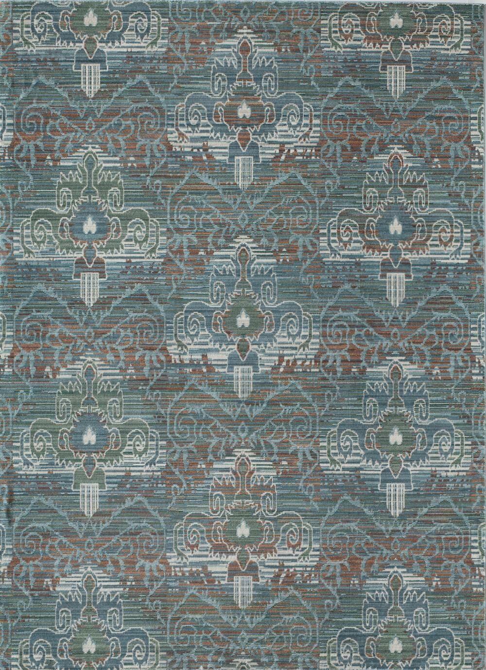 Asteria Athens Aqua Blue/Green Area Rug Rug Size: 8' x 10'