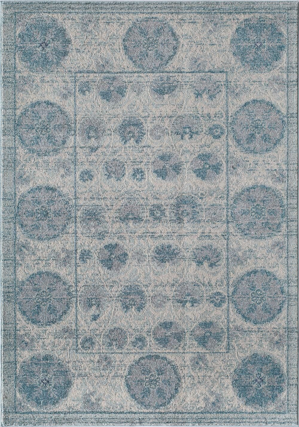 Beverly Blue Area Rug Rug Size: Rectangle 4' x 5'7