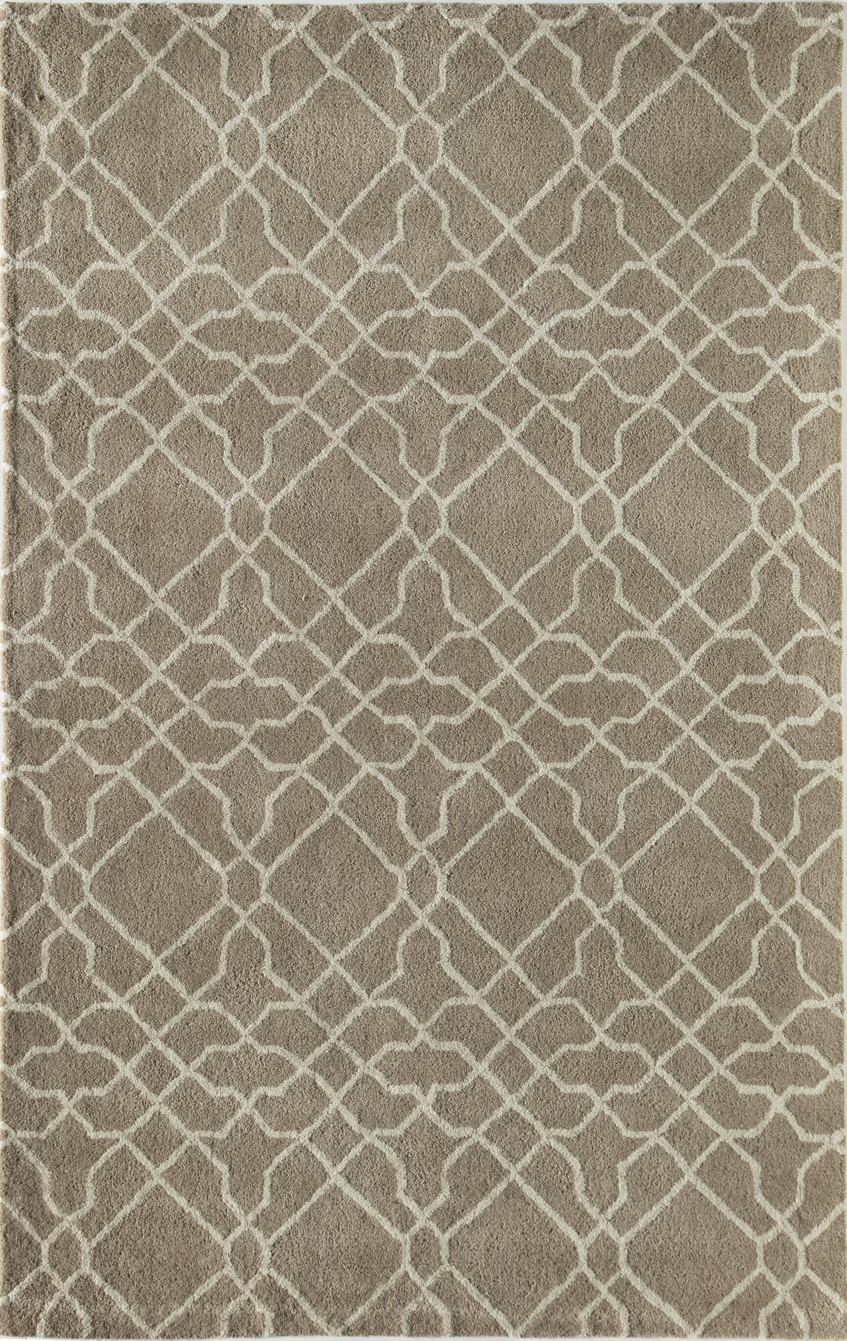 Mckay Geometric Hand-Tufted Wool Beige Area Rug Rug Size: 8' x 10'