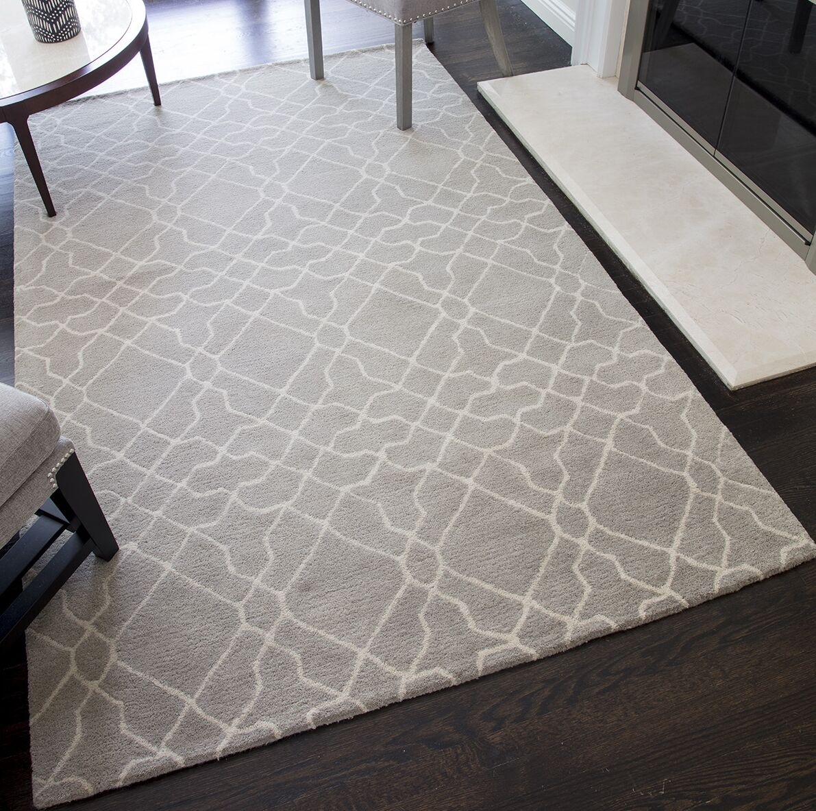 Pomeroy Geometric Hand-Tufted Wool Gray Area Rug Rug Size: 8' x 10'