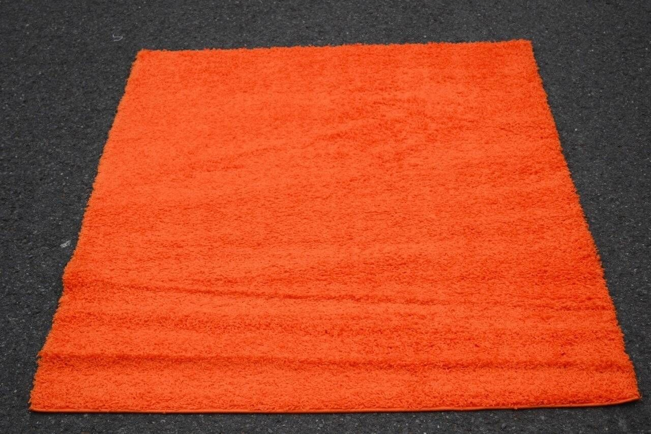 Modern Shag Orange Area Rug Rug Size: Rectangle 5' x 7'