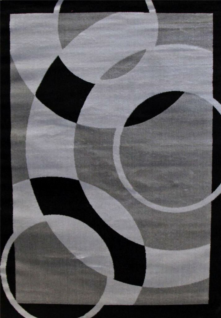 Abstract Gray Area Rug Rug Size: Rectangle 7'10