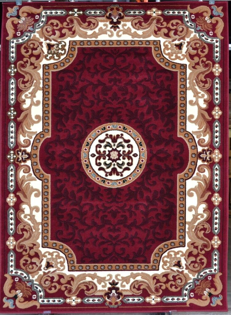 Oriental Red Area Rug Rug Size: Rectangle 5'2