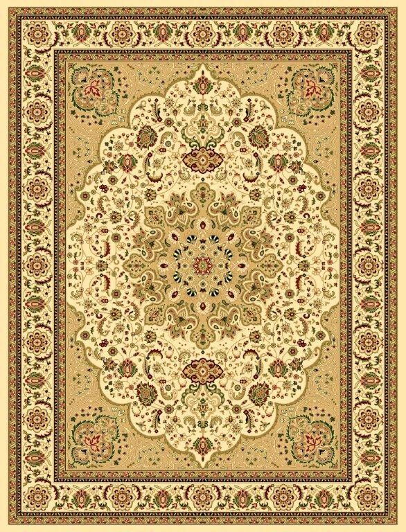 Blocher Oriental Beige/Green Area Rug Rug Size: 7'10