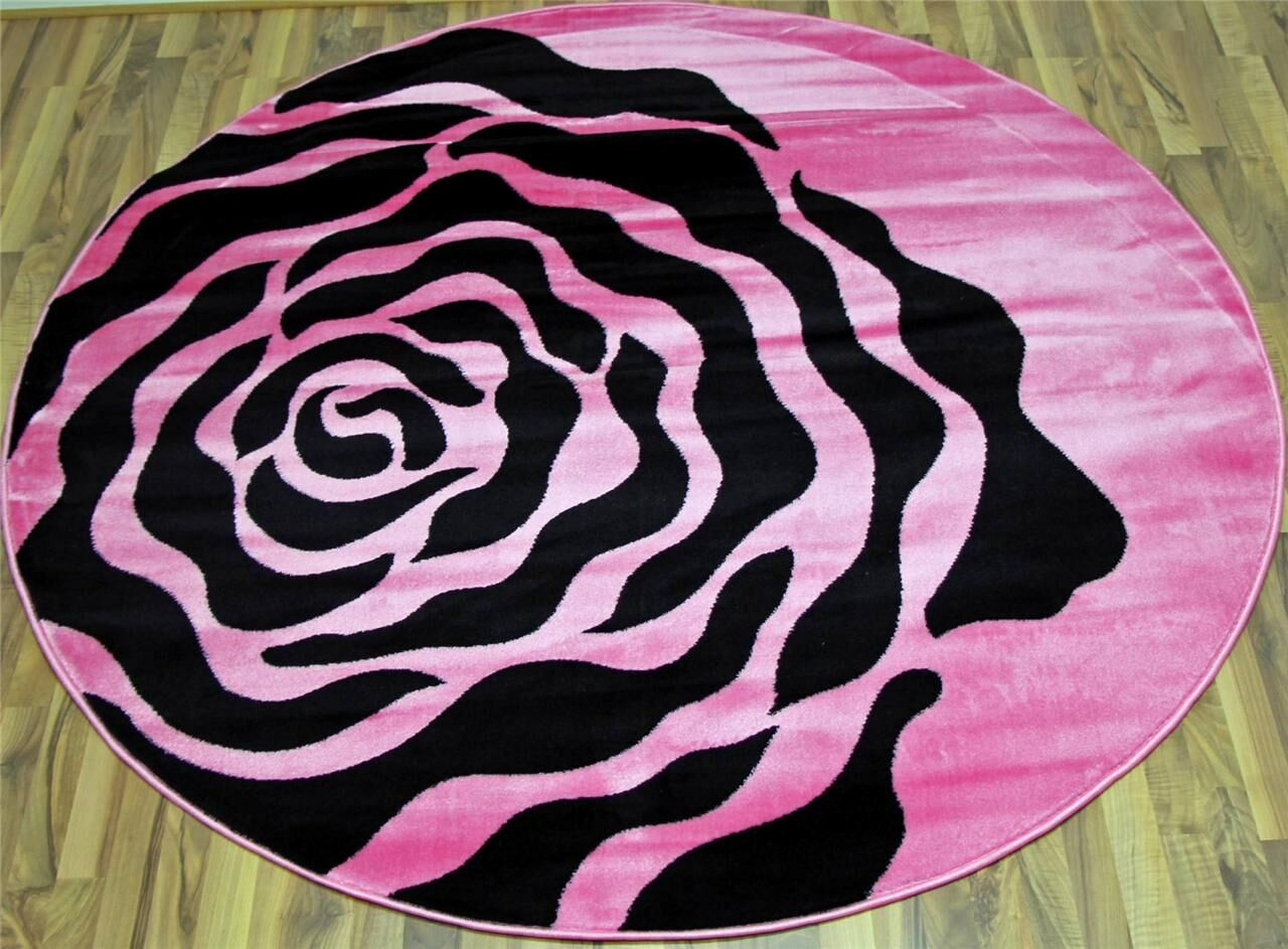 Pink Area Rug Rug Size: Round 6'5