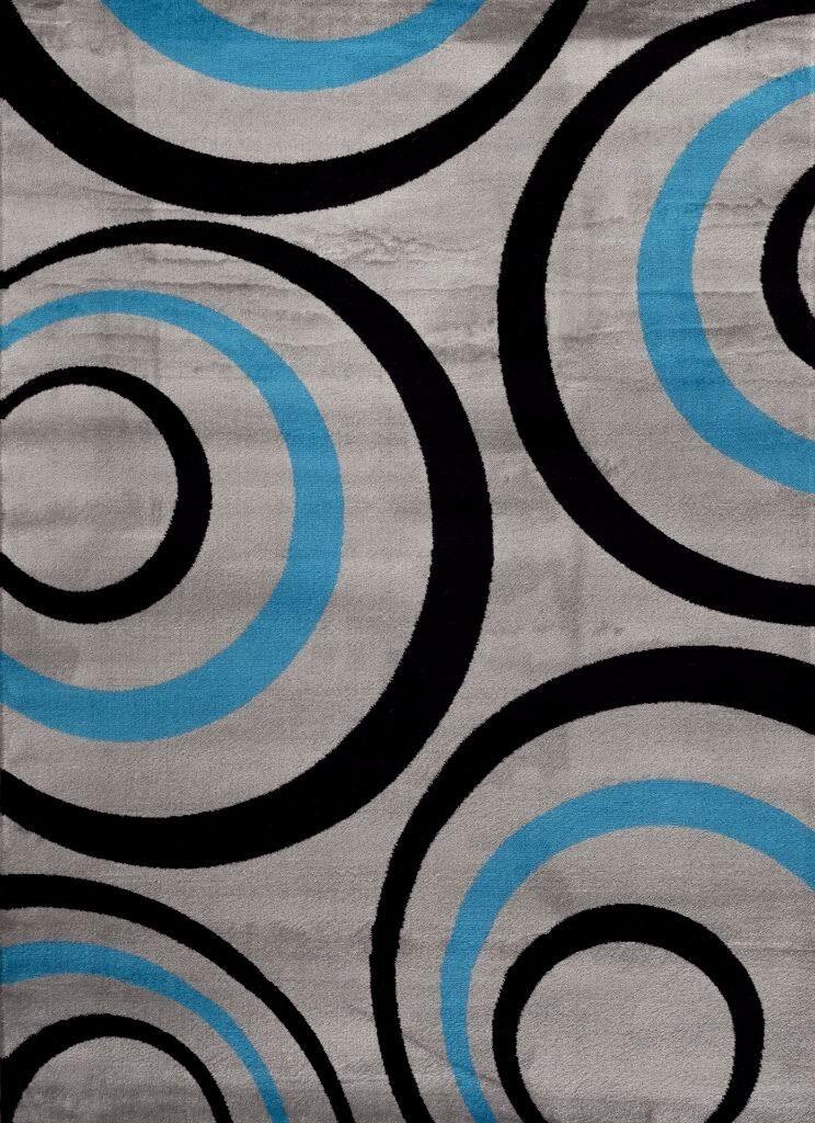 Turquoise Area Rug Rug Size: Rectangle 5'2