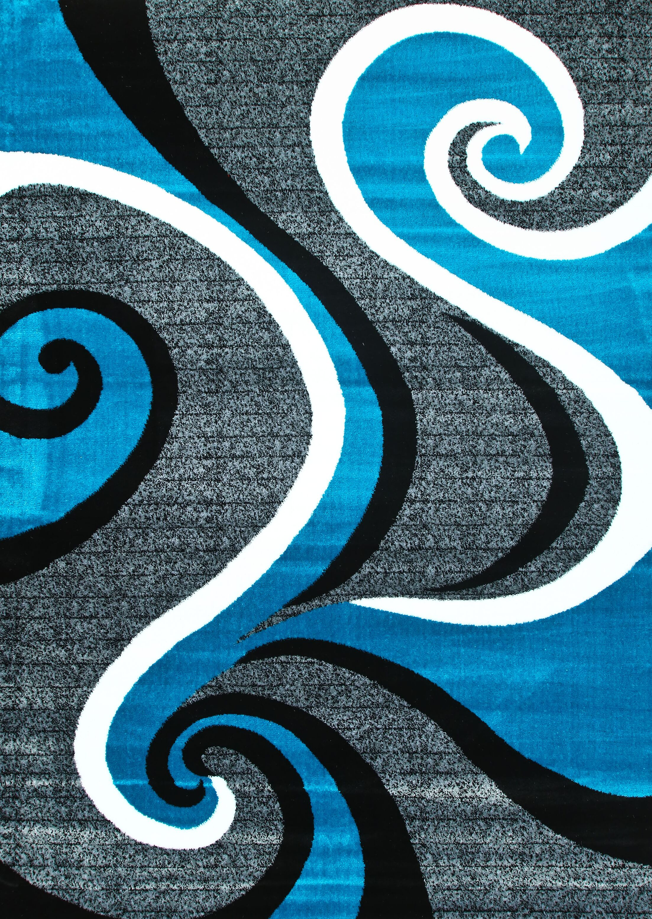 Anghelina Abstract Turquoise Area Rug Rug Size: Rectangle 5'2
