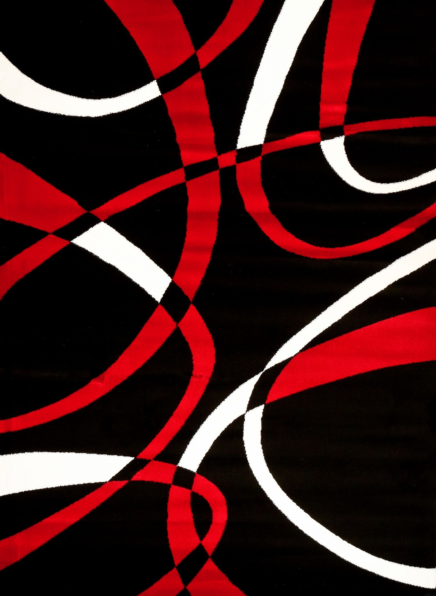 Modern Red Area Rug Rug Size: Rectangle 3'9