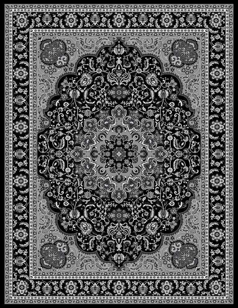 Gray Area Rug Rug Size: Rectangle 7'10